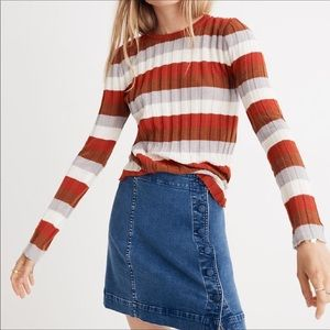 Madewell Striped Clarkwell Pullover Sweater Top